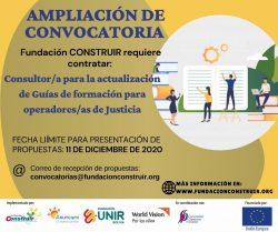 AMPLIACIÓN DE CONVOCATORIA
